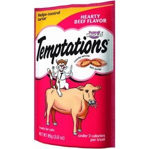 Whiskas Temptations Hearty Beef Flavour Treats for Cats