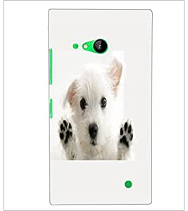 PrintDhaba Puppy D-2228 Back Case Cover for NOKIA LUMIA 730 (Multi-Coloured)
