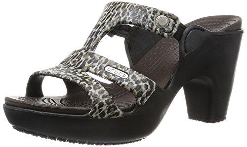 [クロックス] CROCS cyprus 5.0 leopard print heel w サイプラス 5.0 レオパード プリント ヒール ウィメン サンダル 203125 90L (Leopard/W6)