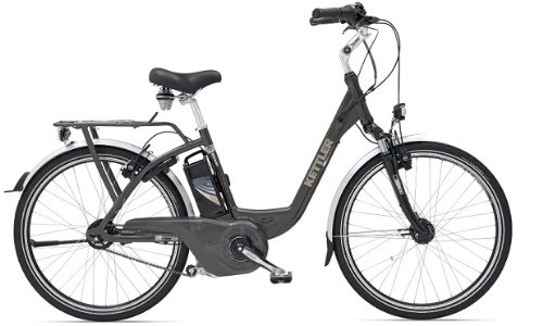 Kettler KB204-347 Anthrazite Obra Comfort 12Ah Female Electric Bike 47cm Frame