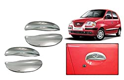 EASY4BUY Chrome Plated Car Door Handle Cover for Hyundai Santro (Set of 4)