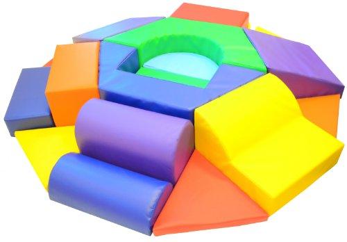 Matsplus Hexagon Toddler Soft Play Climber front-322134
