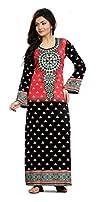 Women's Trendy BlackMulti Maxi Dress…