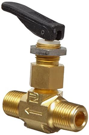 Parker VQ Series Brass Toggle Valve, Inline, Toggle Handle, PTFE Stem, NPT Male