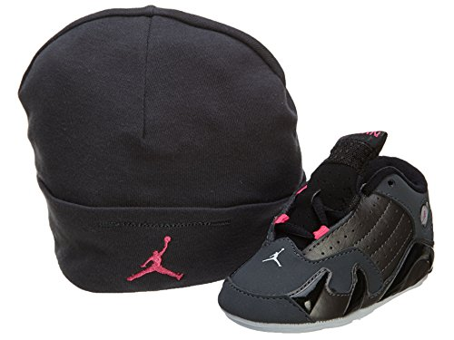 Nike Jordan 14 Retro Gift Pack Crib Dark Grey/Hyper Pink/Black 312094-028 (2C)