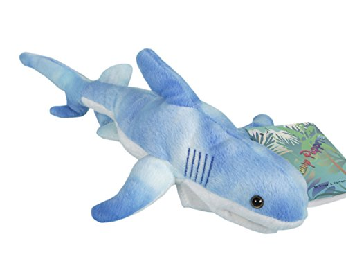 Blue Shark Puppet - 12""