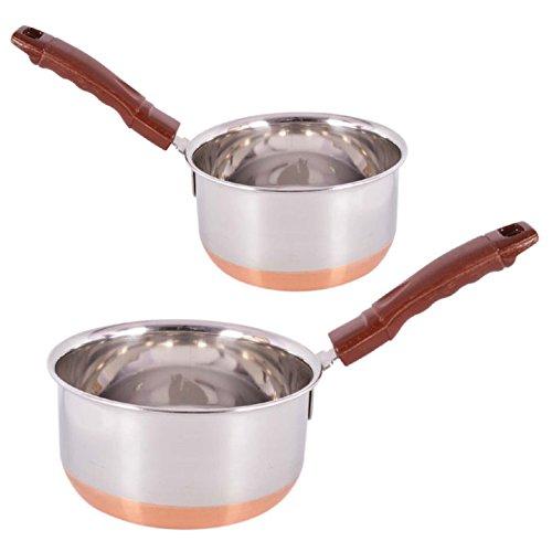 Jalpan Cookware Combo - Sauce Pan 2 Liter Large 18cm - WITH - Sauce Pan 1.5 Liter Medium 17cm -