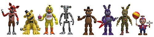 "Action Figure Five Nights at Freddy's 4 Figure Pack(1 Set), 2"" & Five Nights at Freddy's 4 Figure Pack (Set 2), 2-Inch"