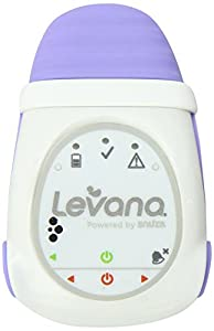 Levana Oma+ Clip-On Portable Baby Movement Monitor with Vibration Alert and Audible Alarm, White/Purple