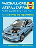 Haynes Owners + Workshop Car Manual Vauxhall Astra/Zafira Petrol 98- 04 3758