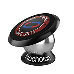 Nochoice® Crazy Mount Magnetic Car Phone Holder for iPhone se 6s Plus 6s 5s 5c Samsung Galaxy S7 Edge S6 S5 Note 5 4 ( 42mm Black)