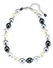 M&S Collection Pearl Effect Ombre Necklace