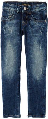 LTB Jeans Mädchen Jeans Mini Molly, Einfarbig, Gr. 128 (Herstellergröße: 7-8), Blau (Belle Wash)