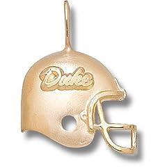 Duke University Duke Helmet - 10K Gold by Logo Art