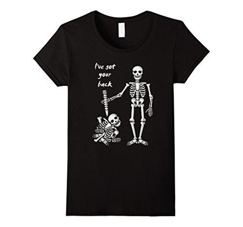 I've Got Your Back Funny Skeleton T-Shirt