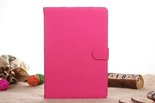 Ipad Mini Case, Ipad Mini 2/3 Borch Fashion Luxury Multi-function Protective Genuine Leather Series Light-weight Folding Flip Smart Case Cover for Apple Ipad Mini, Ipad Mini 2 & 3 (Rose red)