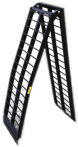 10' Black Aluminum HD Single Folding Wide Arched Harley Motorcycle Loading Ramp