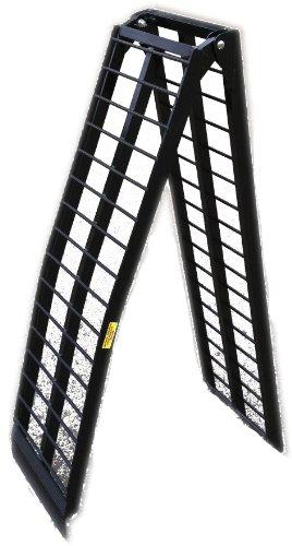 9' Black Aluminum Single Folding Arched Motorcycle loading ramp