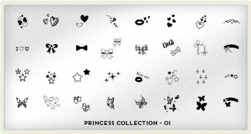 moyou london nageldesign the princess schablonen neue kollektion 01. Black Bedroom Furniture Sets. Home Design Ideas