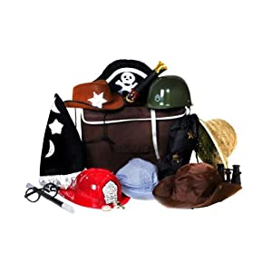 A Dorm Trunk is another Big and Solid boys dress up trunk. It's often also called a footlocker or a storage trunk. There are many different sizes, colors, and styles available, they can come with locks or wheels, and can be made from metal, wood, or vinyl (or a combination of the three).