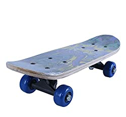 NOVICZ Wooden Kids Skating Board Skate Board Blue