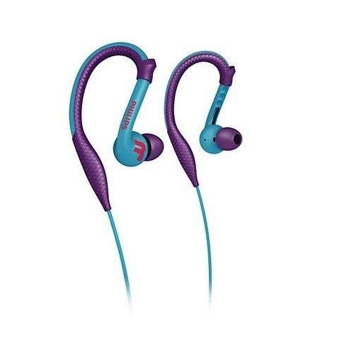 Philips headphones earhook - headphones purple blue