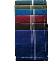 Kuber Industries Assorted Design Multi Pack of 6 Handkerchief for Men