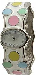 Women's Polka Dot Bangle Watch Easy to Read Dial