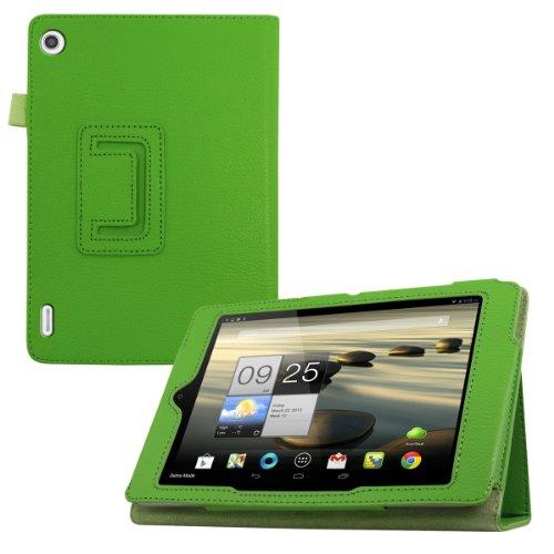 kwmobile Hülle für Acer Iconia A1-810 / A1-811 mit Ständer - Kunstleder Tablet Case Cover Tasche Schutzhülle in Grün