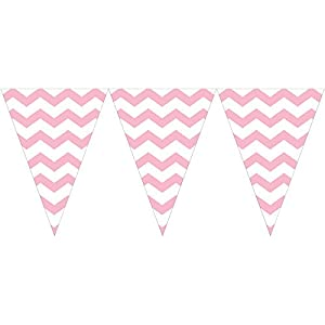 Pastel Pink Chevron Flag Banner (1 ct) from Creative Converting