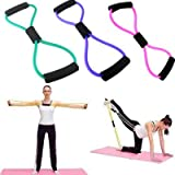 Resistance Training Bands Rope Tube Workout Exercise For Yoga