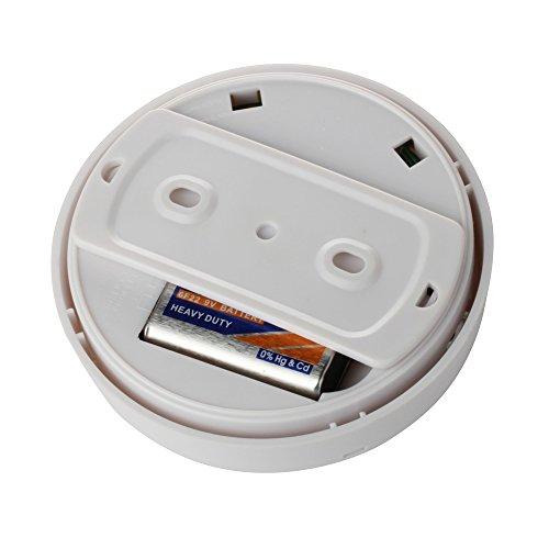 flexzion wireless smoke detector and fire alarm tester meter sensor home secu. Black Bedroom Furniture Sets. Home Design Ideas
