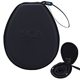 Headphone Case, NOA Handy Headset Carrying Case for Bluetooth Headsets and Bluetooth Headphones (Black)