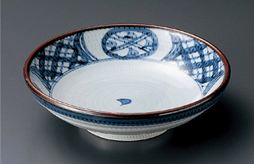Brush Jiki Japanese Porcelain Rice-Bowl for Udon,SOBA,Teriyaki-Bowl Made in Japan