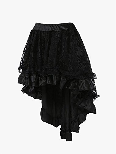 Titivate-Womens-Gothic-Lace-Trim-Corset-Skirt-Party-Costume-S-6XL