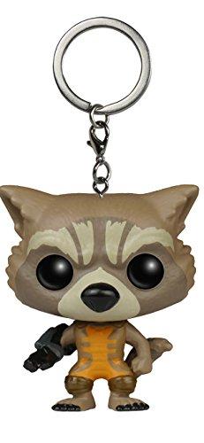 Funko 020058Pocket Pop Guardians Of The Galaxy Rocket Raccoon Booble Head Keychain