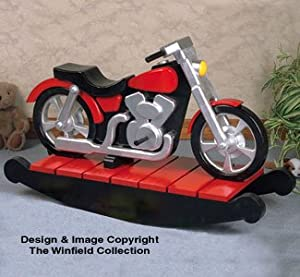 Motorcycle rocker woodworking plan for Woodworking plan for motorcycle rocker toy