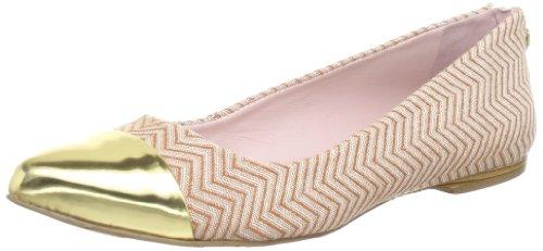 Miezko Cris Ballet Flats Womens Beige Beige (TAN/GOLD) Size: 6 (39 EU)