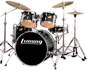 Cheap Beginner Kits: Ludwig Lr1315l316 Accent Custom 5-piece Black ...