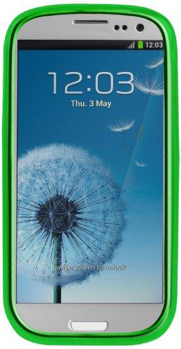 SBS Custodia Touch Case in TPU Proteggi-Schermo per Samsung Galaxy S3 I9300, Verde Acido