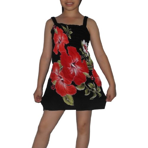 Girls Thai Exotic Gathered / Smocked Bodice Sleeveless Summer Tank Dress - Size:4-5