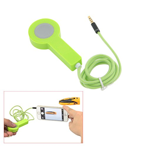 TARION® Kabelgebundener Kamera Selbstauslöser Fernauslöser Einfache Fernauslöserbedienung für iPhone 4 4S 5 5C 5S IPAD2 IPAD3 IPAD4 IPAD5 IPAD MINI IPAD MINI2 Grün