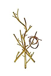 Creative Co-Op Metal Twig Jewelry Holder, Gold by Creative Co-op
