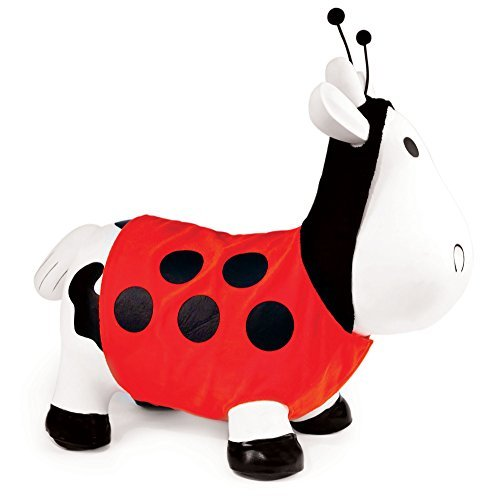 [Trumpette Howdy Bouncy Rubber Cow White Lady Bug Costume Bouncer Hopper Ride-On] (Bouncy Ball Costume)
