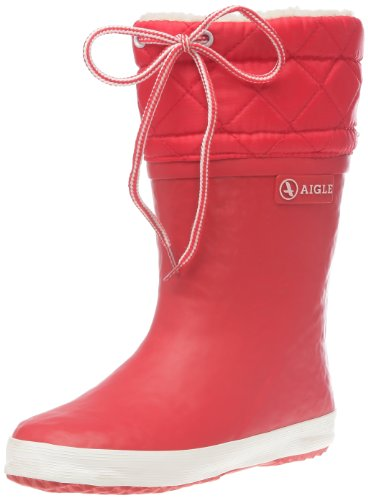 Aigle-Giboule-Unisex-Kinder-Langschaft-Gummistiefel-Rot-rouge-blanc-8-28-EU-UK-Child-10