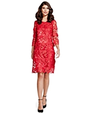 Per Una 3D Floral Appliqué Lace Dress