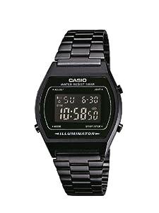 Casio - Vintage - B640WB-1BEF - Montre Mixte - Quartz Analogique - Cadran Noir - Bracelet Acier Noir
