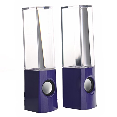 Foxnovo Yk-1229 Usb Powered Colorful Led Fountain Dancing Water Mini Music Speakers For Mobile Phones /Pc /Mp3 (Purple)