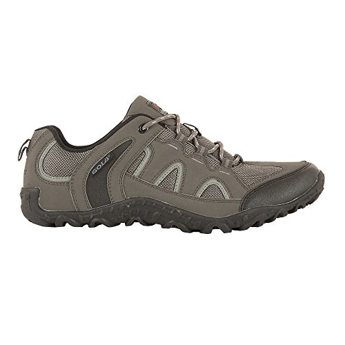 Gola Mens Elias Lightweight Lace Up Walking Shoe (10 US) (Gray/Black)