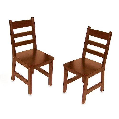 Lipper International 523/4C Child's Chairs, Set of 2, Cherry